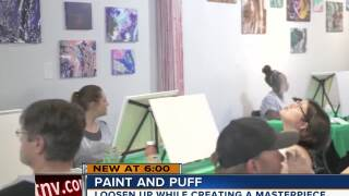 'Paint and Puff' combines cannabis with art