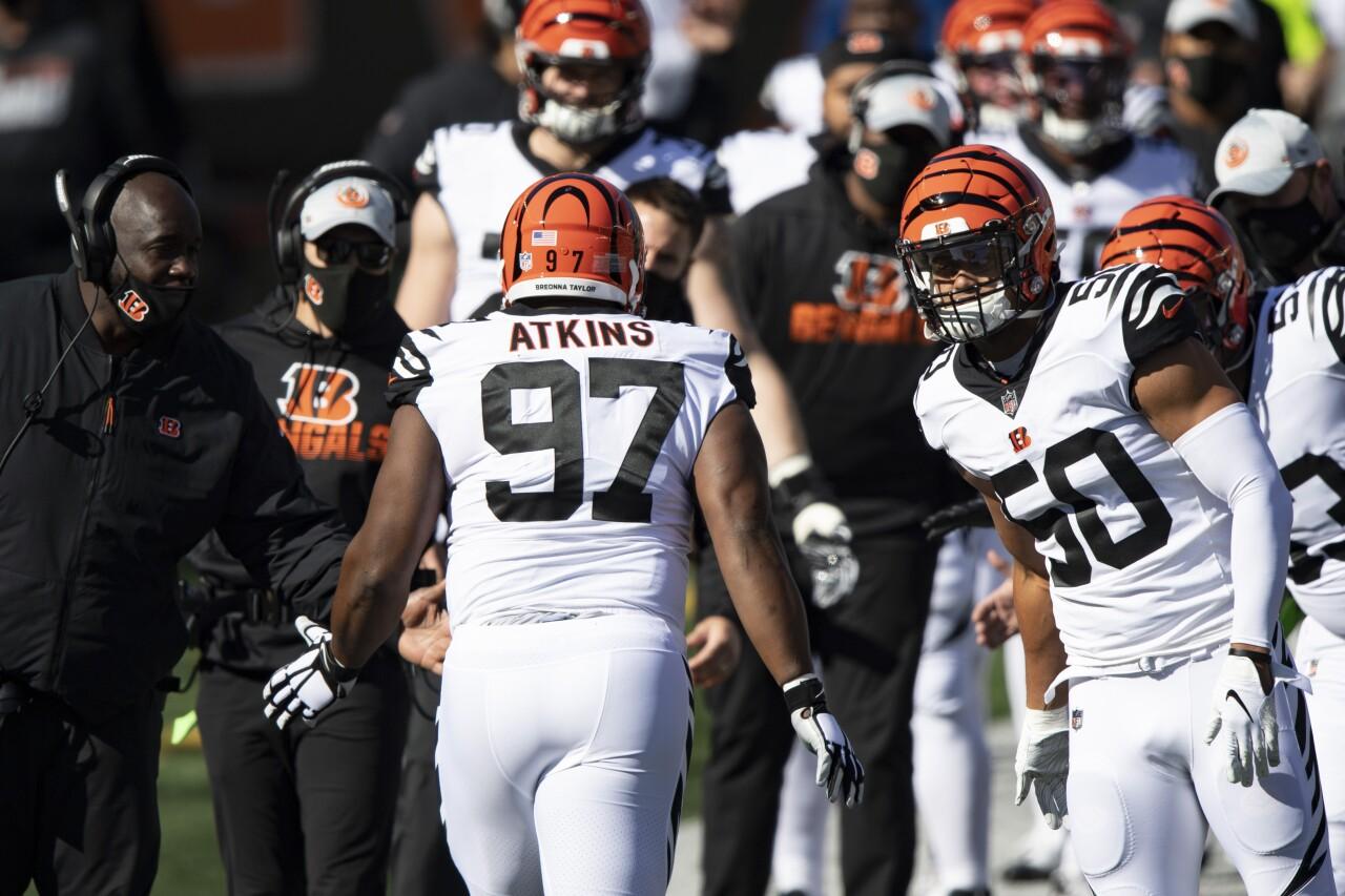 Cincinnati Bengals defensive tackle Geno Atkins introduced before 2020 game