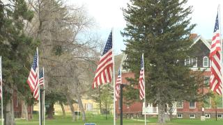 Flags at the Montana VA