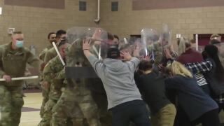 Montana National Guard soldiers depart Helena for inauguration mission