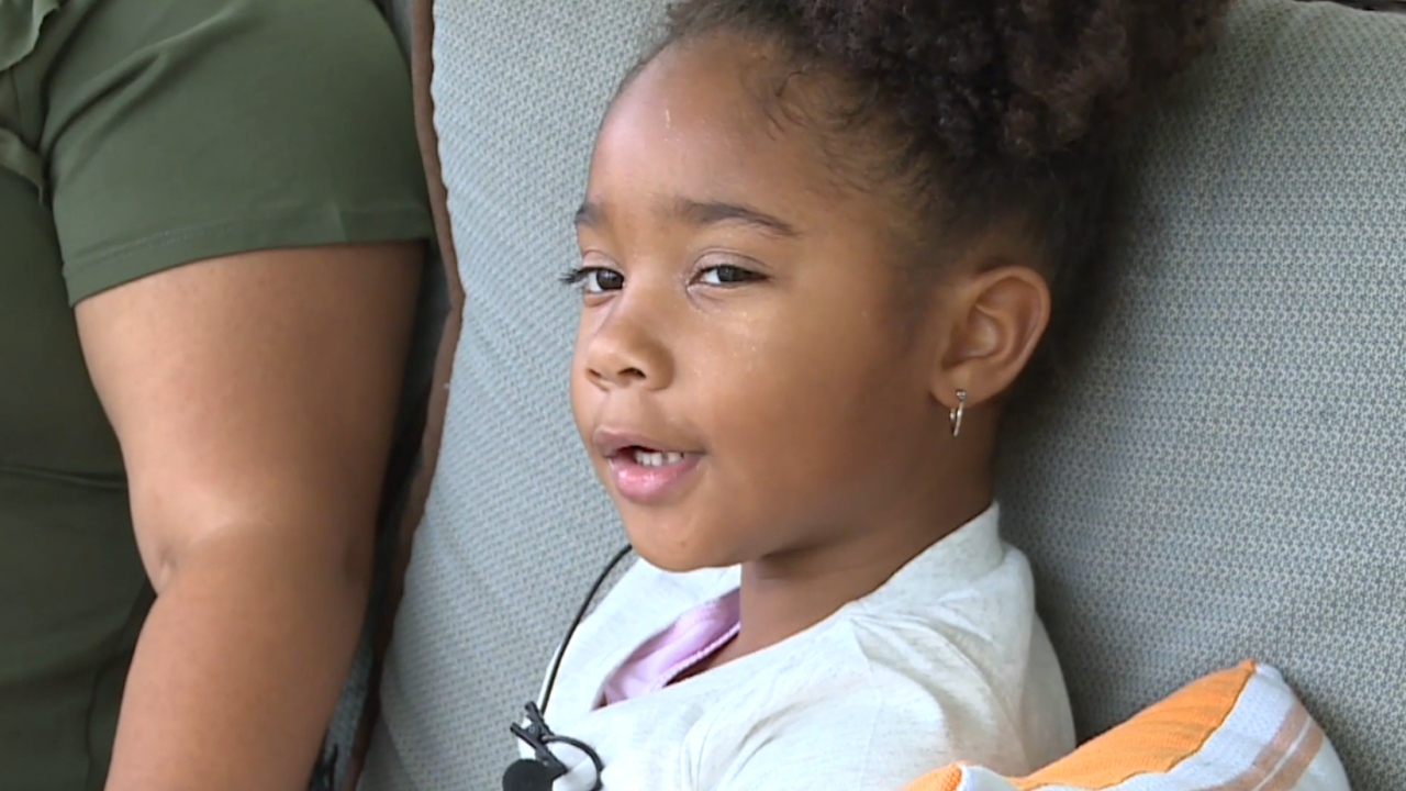 Community rallies around young girl with rare brain cancer