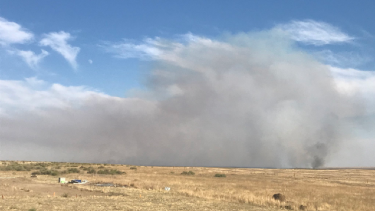 Crews responding to 100 acre fire south of Boise