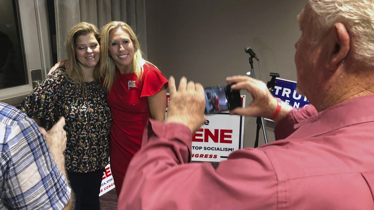 Marjorie Taylor Greene, who made racist videos, wins GOP nod in Georgia