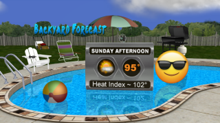 Great pool weather on Sunday