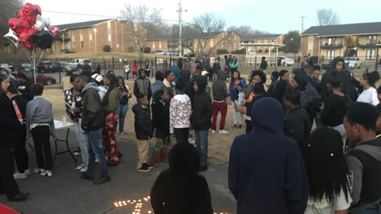 Vigil Held For 15-Yr.-Old Shooting Victim