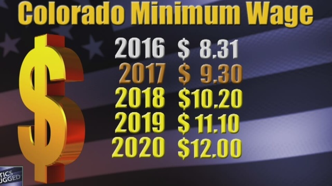 Colorado minimum wage raised to $9.30 in 2017