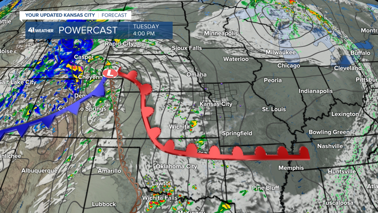 Surface Forecast Valid Tuesday Afternoon