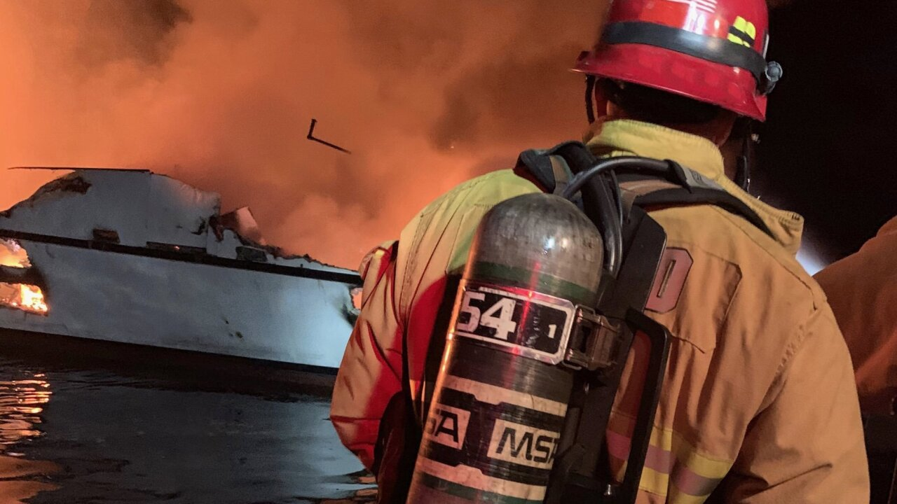 8 dead, dozens missing in California dive-boat fire, officials say