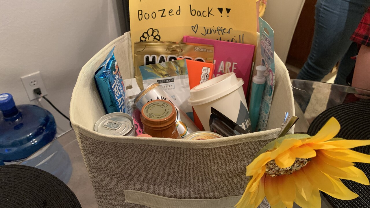 """Booze Babes Las Vegas"" lifting ladies' spirits with anonymous gift baskets"