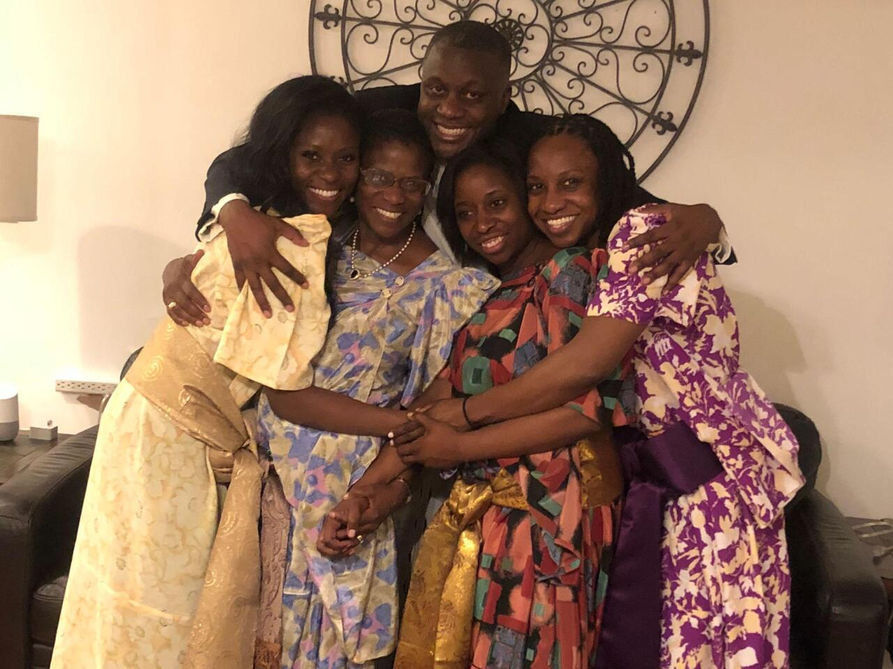 Frances Kaneene with her family