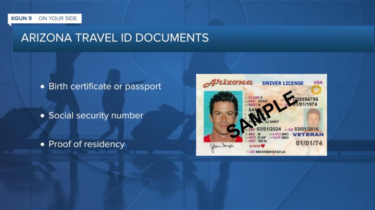 Arizona Travel ID Documents