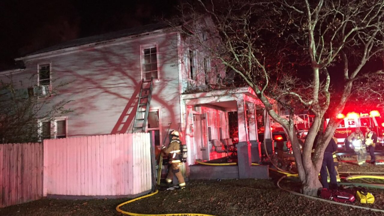 Family of three displaced after Chesapeake house fire