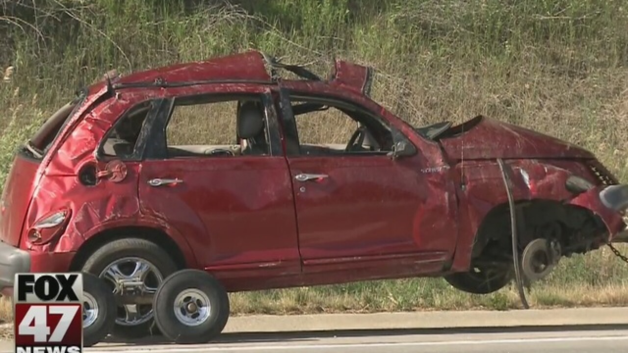 2 in critical condition after I-96 crash