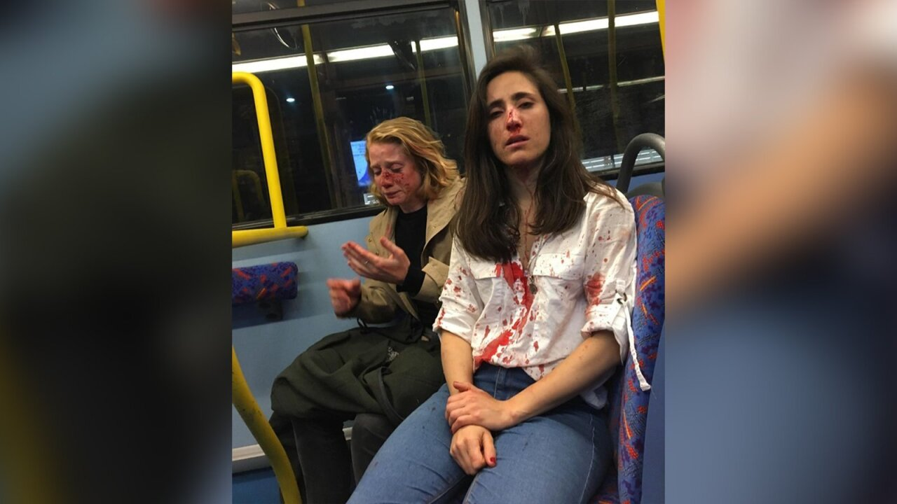 Lesbian couple beaten in homophobic attack on London bus