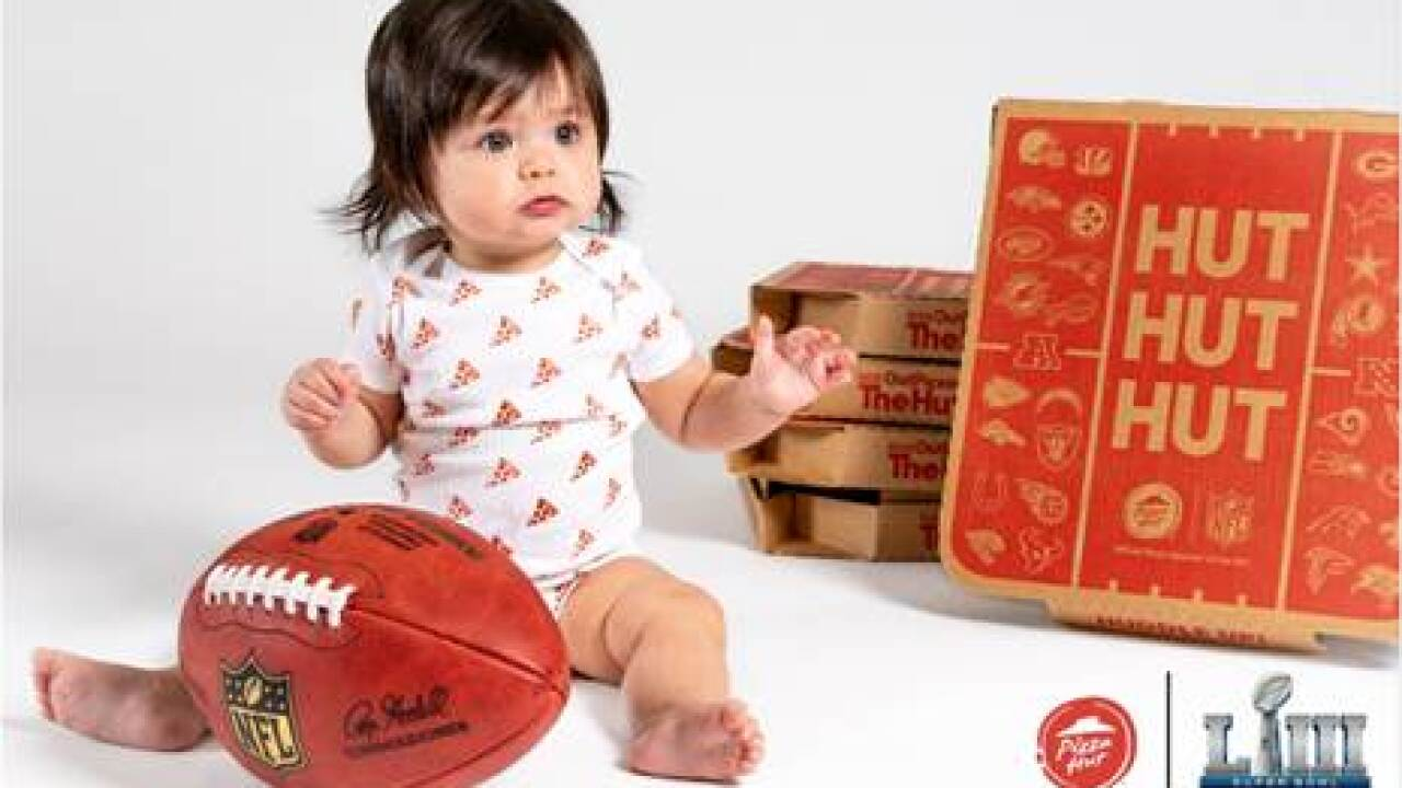 Pizza Hut giving parents of first baby born during Super Bowl free pizza for a year