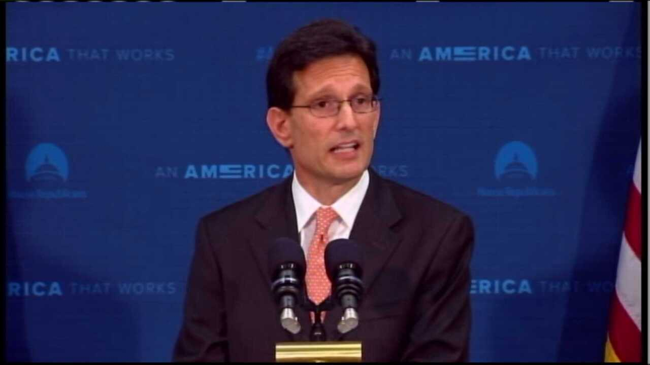 Cantor to resign as House Majority Leader in July after surpriseupset