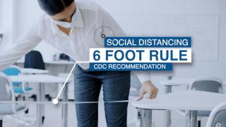 6-foot social distancing rule in schools
