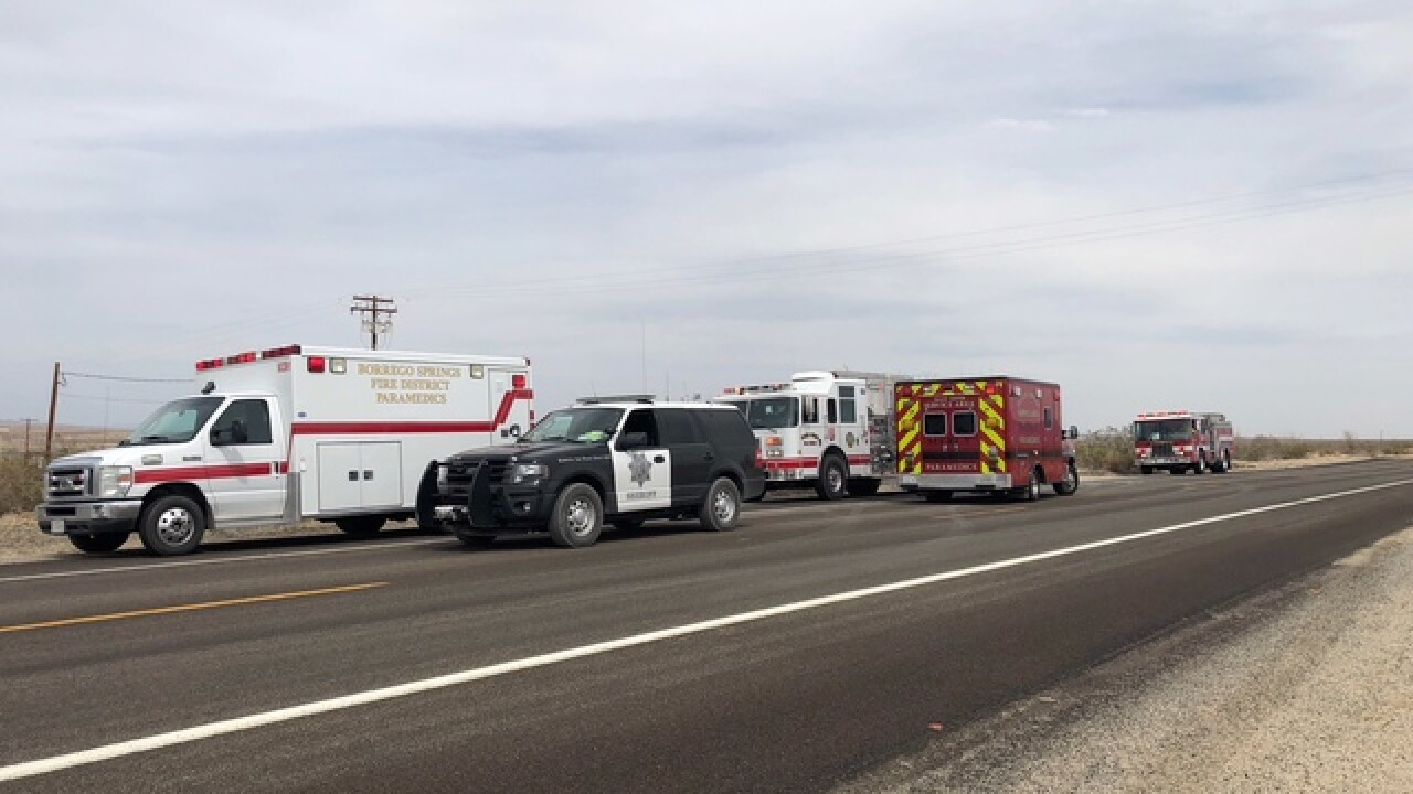 Helicopter crashes near Borrego Springs