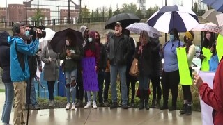 Protest at University of Michigan against Robert Anderson