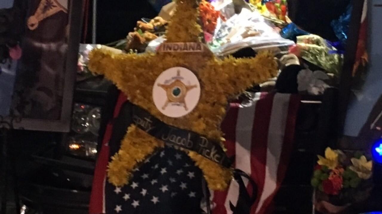Deputy Pickett's cruiser becomes memorial