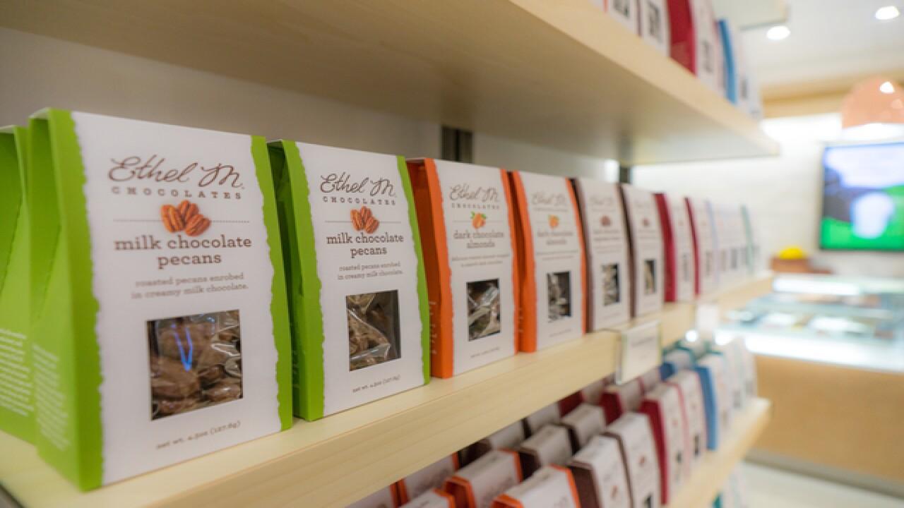 Ethel M Chocolates celebrating redesign