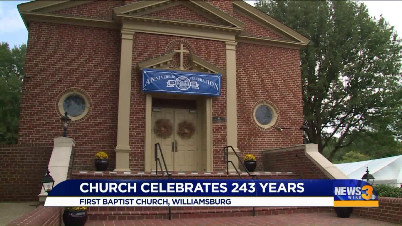 "Instead of singing ""happy birthday,"" congregants celebrated church's 243rd birthday with gospels"