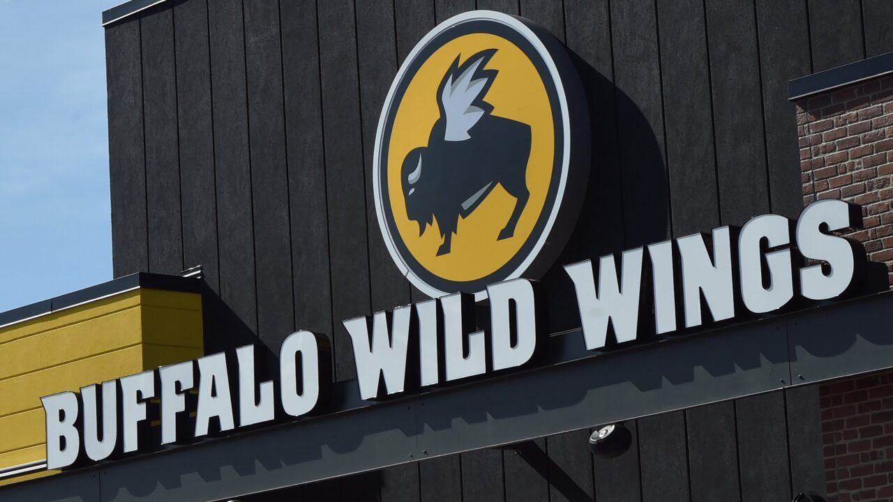 Get buy one get one free wings every Tuesday at Buffalo Wild Wings