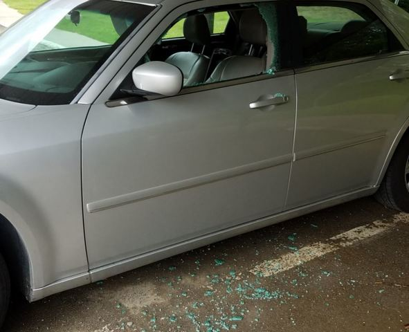 PHOTOS: Windows shattered during vehicle break-ins on Indy's northeast side