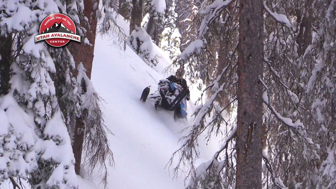 13-year-old on snowmobile rescued from 20-ft sinkhole in Logan Canyon