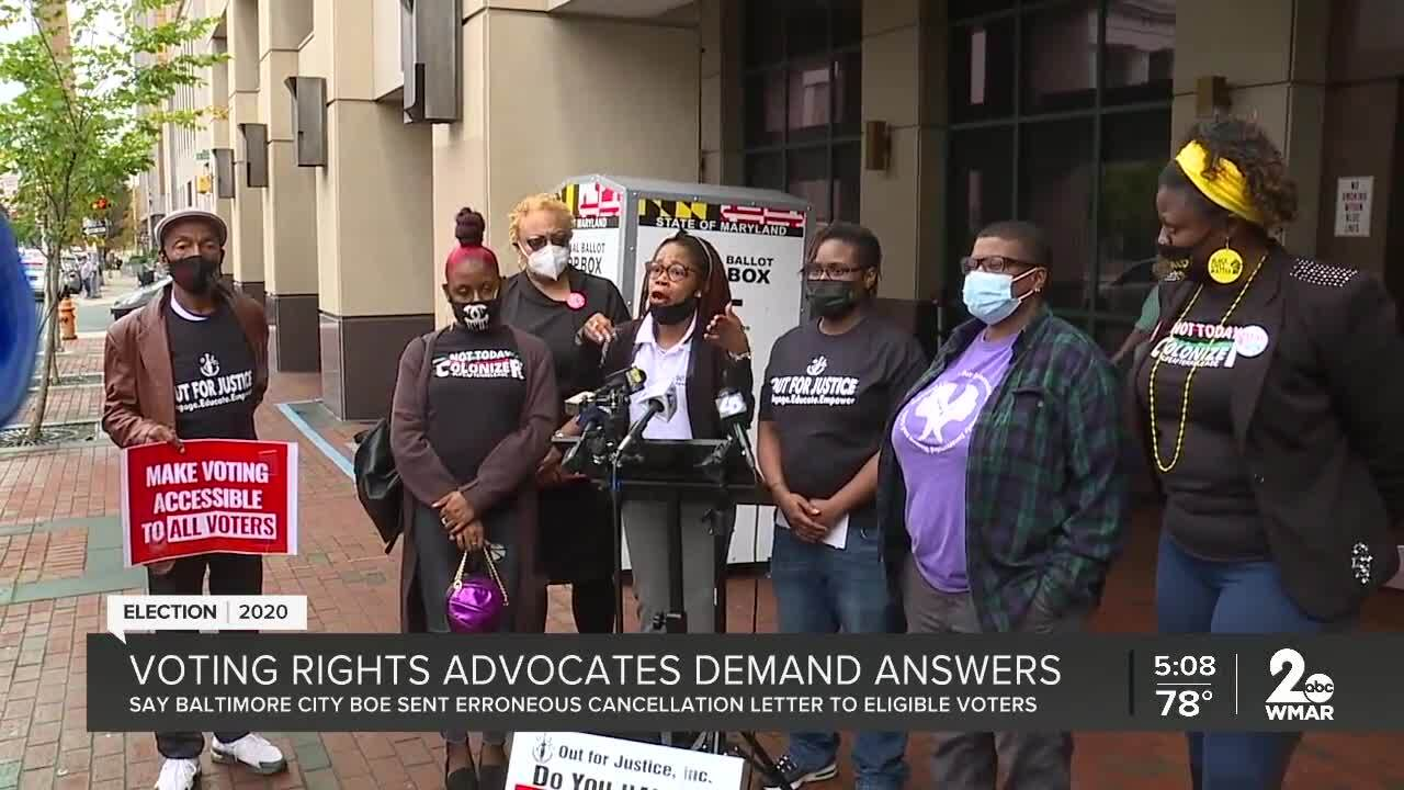 Voting rights advocates demand answers from Baltimore City Board of Elections