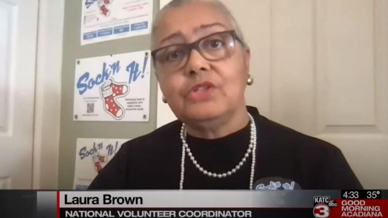 Jeanerette Church runs sock donation on MLK Day.JPG