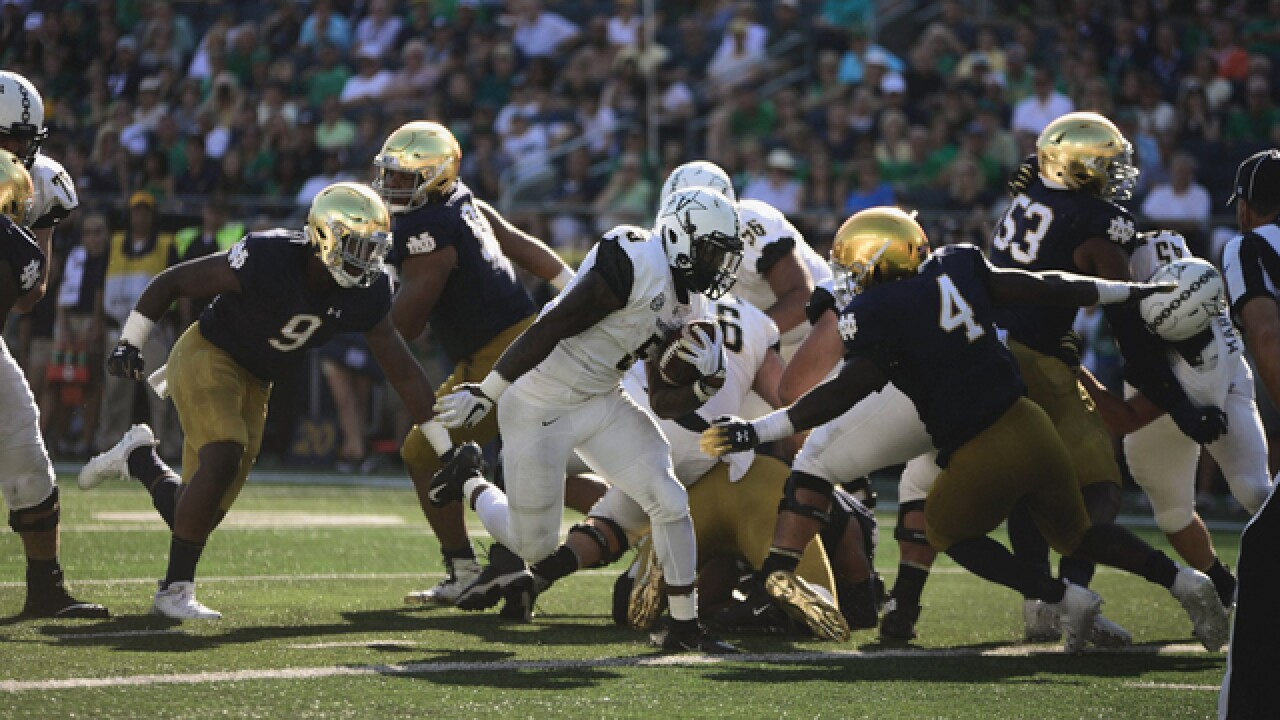 No. 8 Notre Dame Holds On For 22-17 Victory Over Vanderbilt
