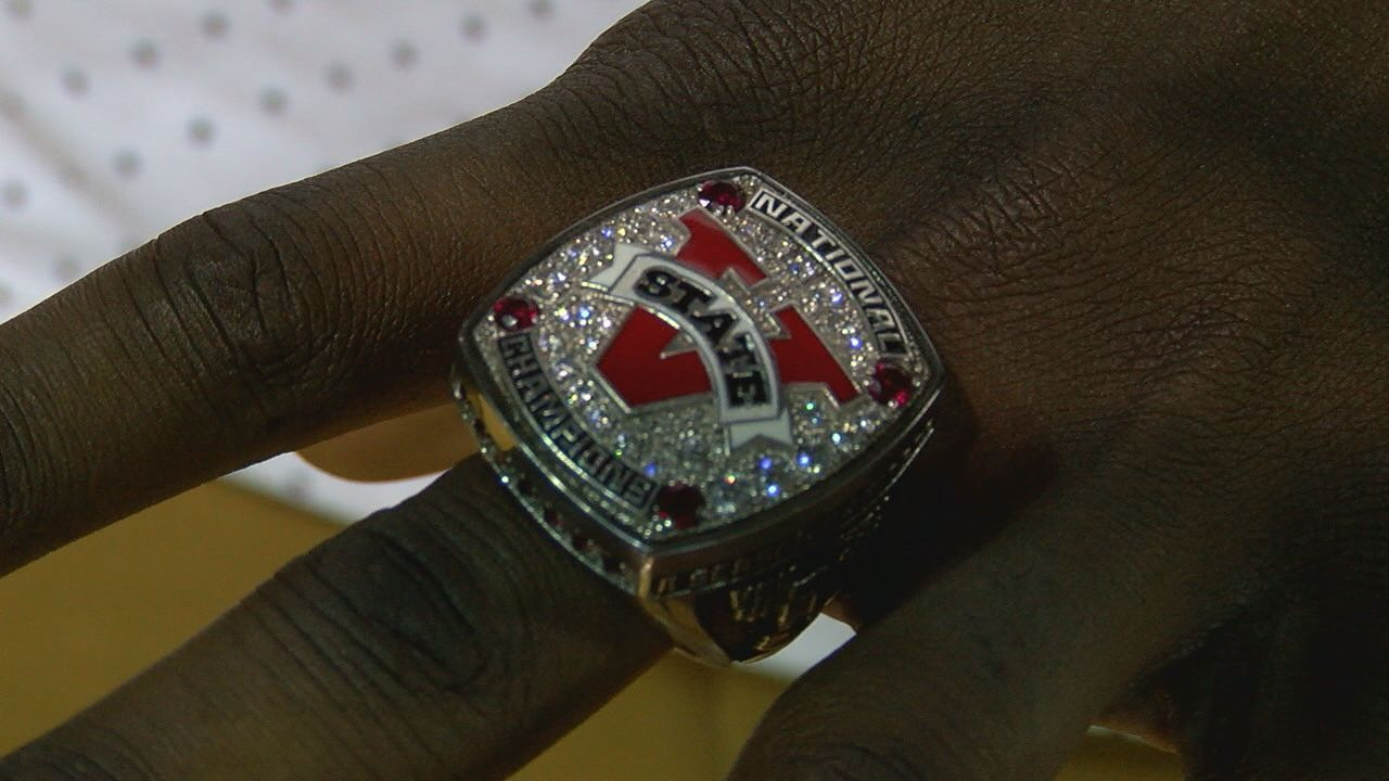Valdosta State football gets their National Championship rings Monday