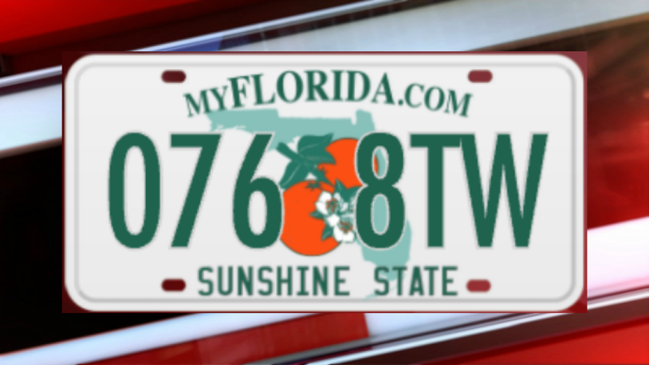 Amber Alert - Page license plate