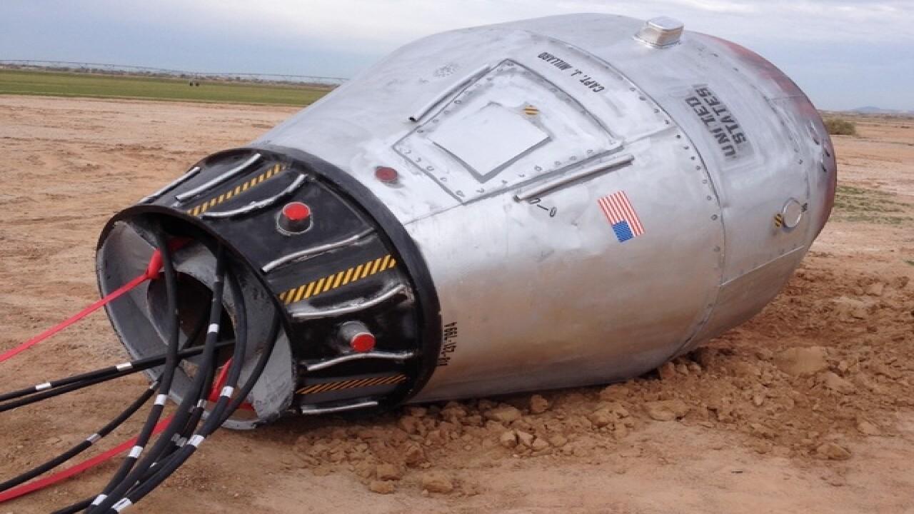 PIC: Space capsule found along Arizona freeway?