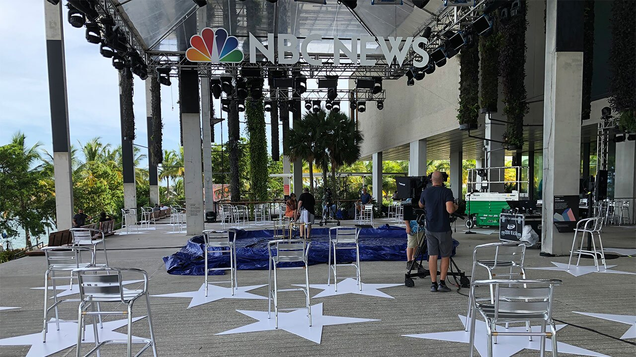 NBC Nightly News anchor Lester Holt will moderate a live town hall with Democratic presidential candidate Joe Biden in Miami on Oct. 5, 2020.