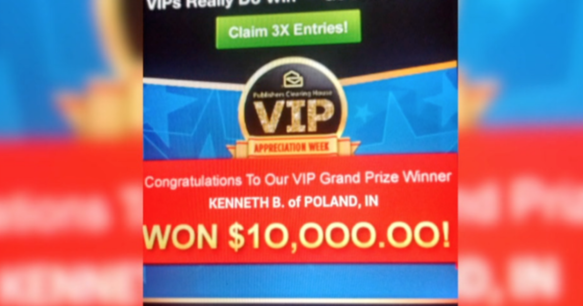 WATCH: You are NOT a winner! Publishers Clearing House mistakenly
