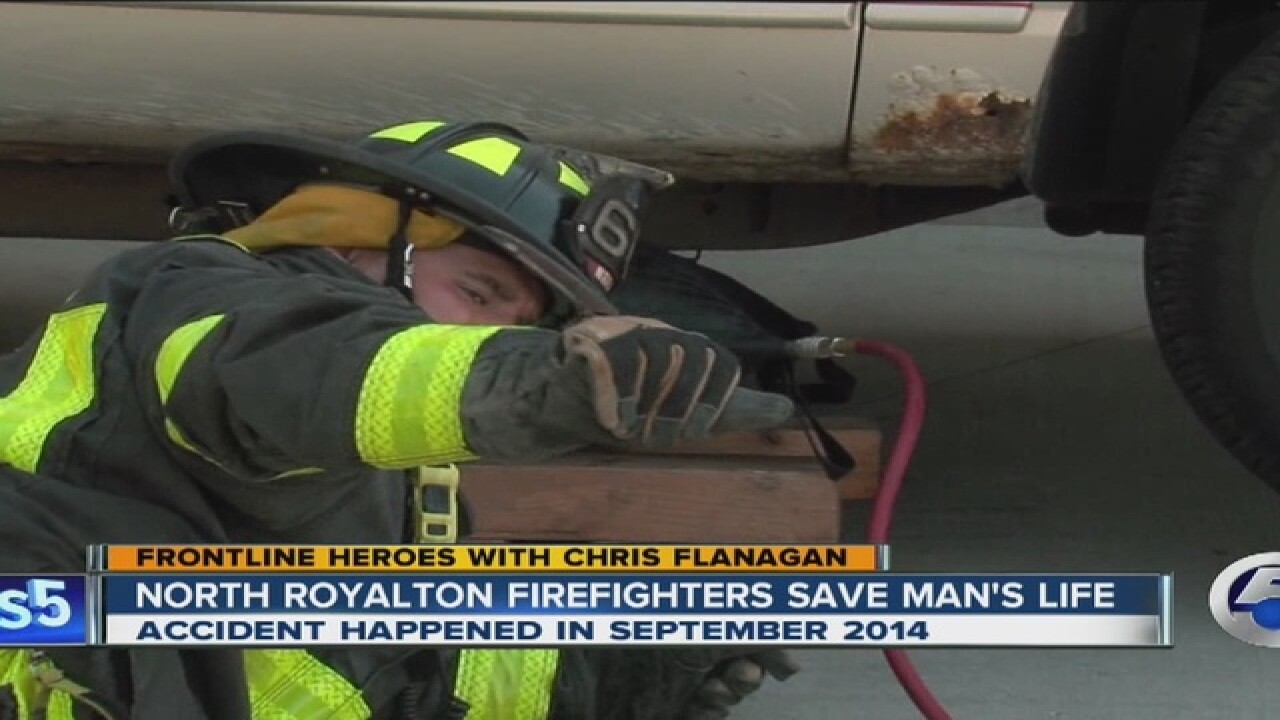 VIDEO: Firefighters reunited w/ man they rescued
