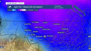 Arctic air moves in by Thursday