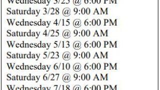 KCSO Testing Dates