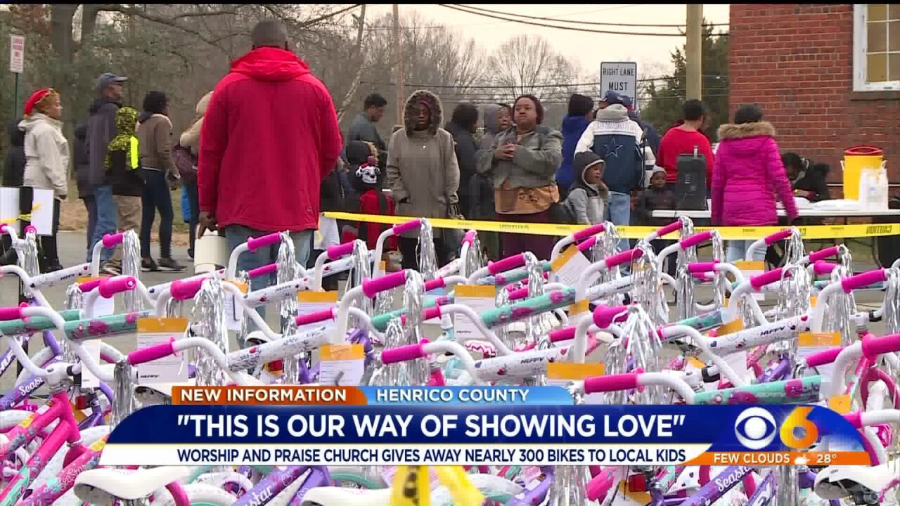 Christmas bike giveaway is 'our way of showing love,' Henrico pastor says