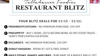 Tallahassee Foodies November 15 restaurant blitz
