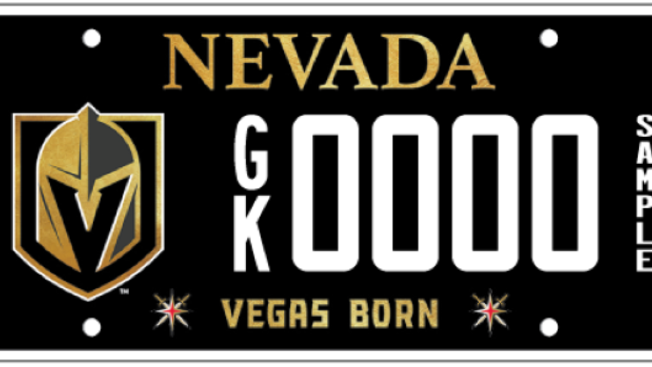 Nevada DMV releases Vegas Golden Knights license plate