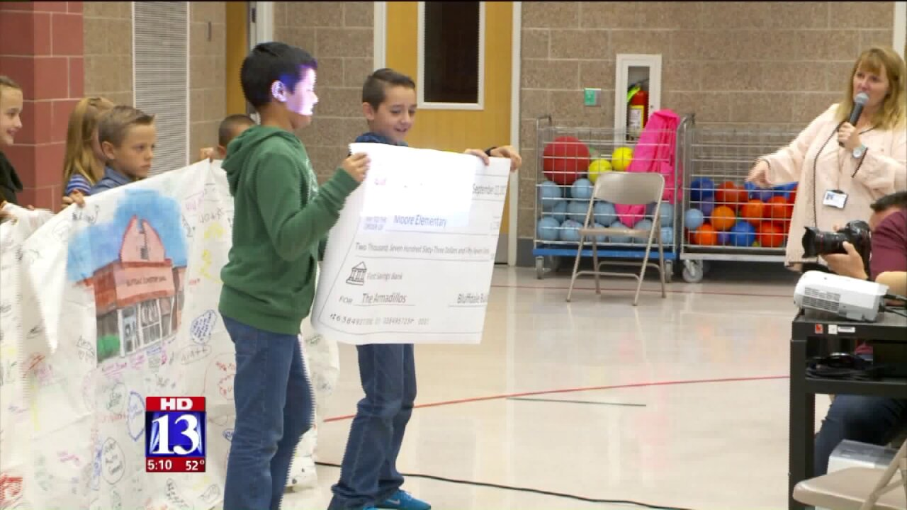 Bluffdale Elementary raises thousands of dollars for school damaged by HurricaneHarvey