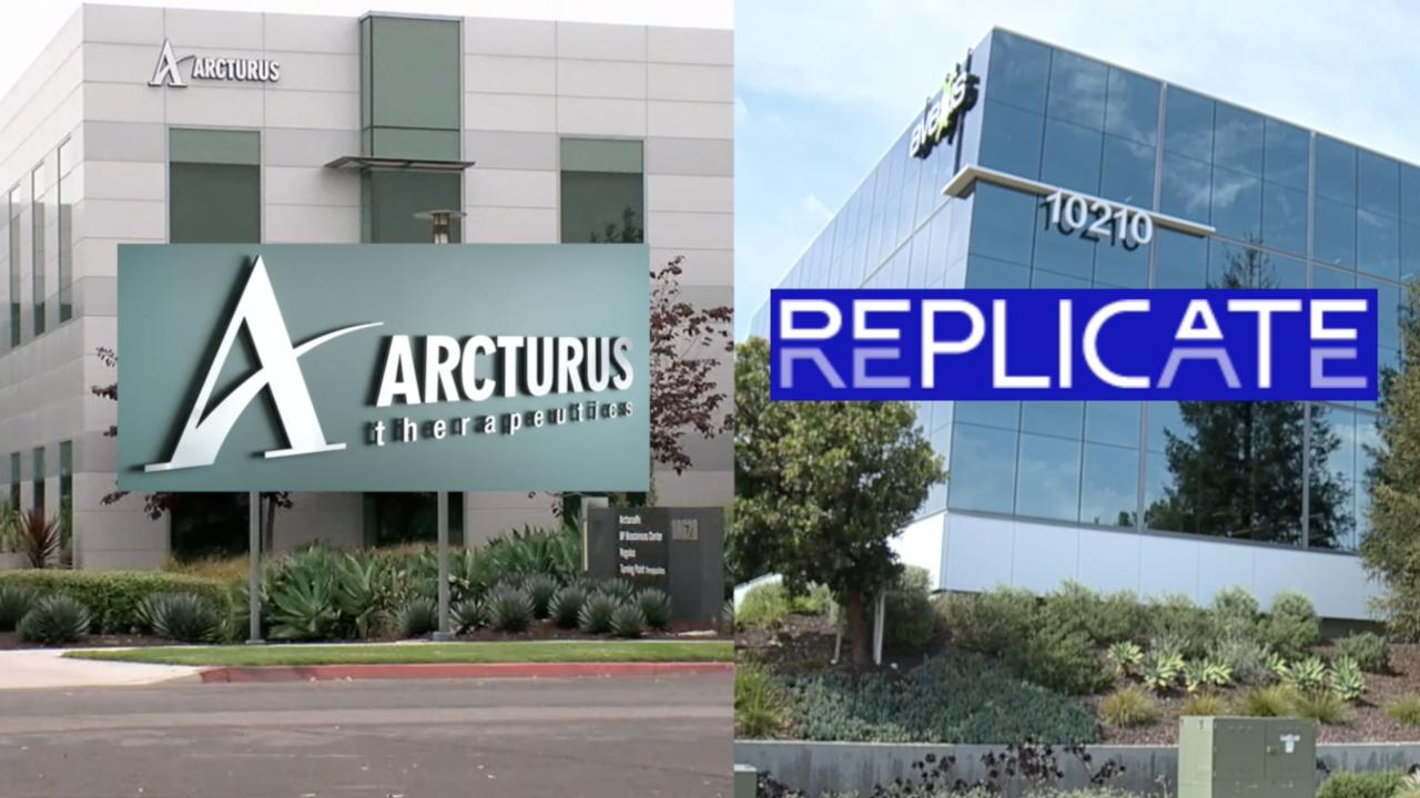 Arcturus Therapeutics and Replicate Bioscience are developing self-replicating RNA