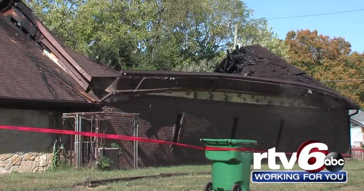 Fire, structure collapse, damages west side church