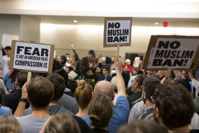 Photos: Protests erupt nationwide over immigration order