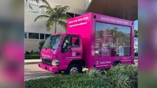 Baptist Health South Florida pink truck to fight breast cancer