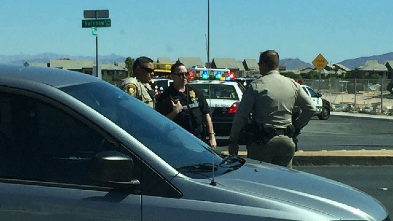 Police activity near Warm Springs, Rainbow Blvd.