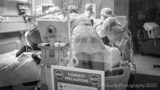 COVID-19 nurses at JFK Medical Center